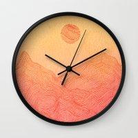 Sunset Mountain - 2 Wall Clock