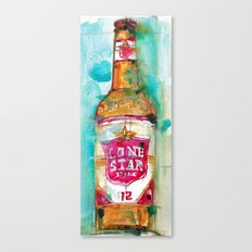 Lone Star Beer Canvas Print
