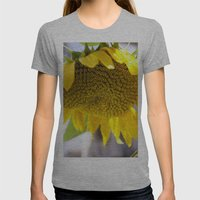 Take Cover [SUNFLOWER] Womens Fitted Tee Athletic Grey SMALL