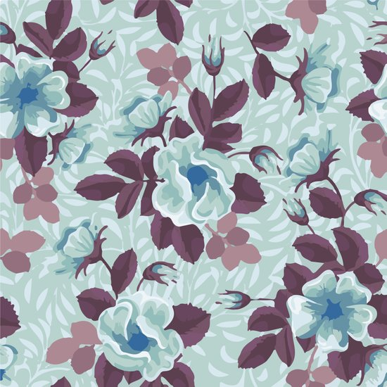 Retro Floral Pattern Art Print