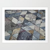 floor post volcano Art Print