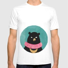 CIRCUS BEAR SMALL White Mens Fitted Tee