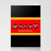 8-bit Andres 5 pose v2 Stationery Cards