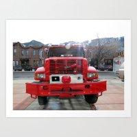 Firetruck! Art Print