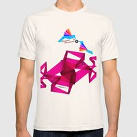 Paper Birds Mens Fitted Tee Natural SMALL