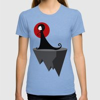 Sia Womens Fitted Tee Tri-Blue SMALL