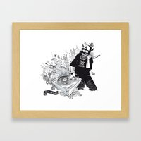 GOD IS A DJ Framed Art Print
