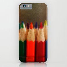Rainbow Crayons iPhone 6 Slim Case