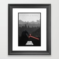 Episode VII: The Force A… Framed Art Print