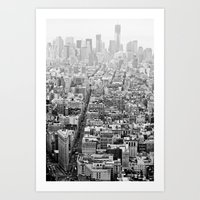 New York Grey Scale Art Print