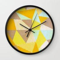 Geometric Warm Wall Clock
