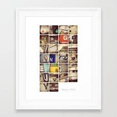 Paris alphabet Framed Art Print