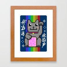 Lucky Nyancat Framed Art Print