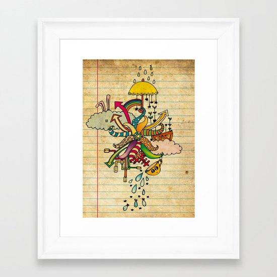 Notebook World Framed Art Print
