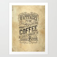 Coffee - Typography V2 Art Print