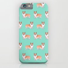 Corgi dog iPhone 6 Slim Case