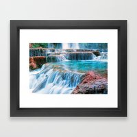 The Pools Of Havasupai F… Framed Art Print