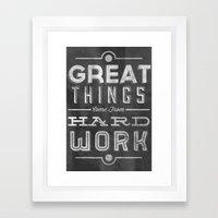 Great Things in Chalk Framed Art Print