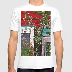 Window Flowers White SMALL Mens Fitted Tee