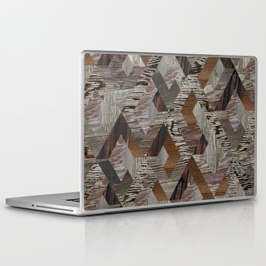 Wood Quilt Laptop & iPad Skin