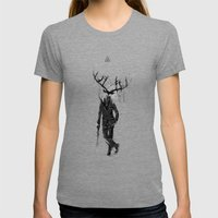 A Fine Lunch Sketch Womens Fitted Tee Tri-Grey SMALL