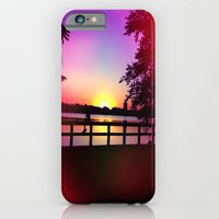 iPhone & iPod Case featuring Warm Summer Nights at Dusk by Allison corn