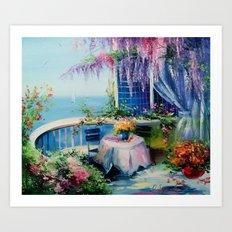 On The Balcony Of The Se… Art Print