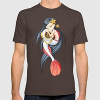 Mermaid Mens Fitted Tee Brown SMALL
