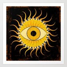 All-seeing sun Art Print