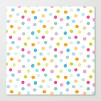 Chickweed Mid Dots Canvas Print