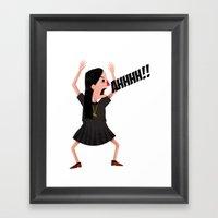 AHHHHHH Framed Art Print