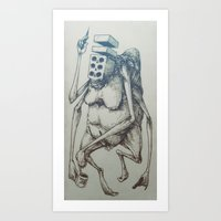 Brick-Death With A Trip-… Art Print