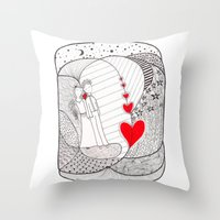 Enamorados En El Sueño … Throw Pillow