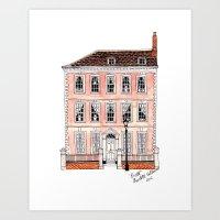 Queens Square Bristol by Charlotte Vallance Art Print
