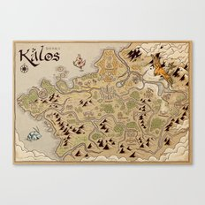 Kalos Map Canvas Print