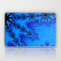 Black and blue fractal Laptop & iPad Skin