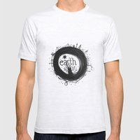 Earth Mens Fitted Tee Ash Grey SMALL