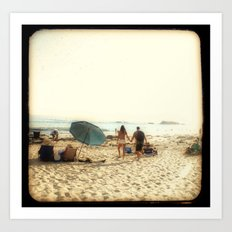 Beach Couple Art Print