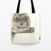 cat on the table Tote Bag