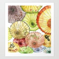Paper Umbrellas Art Print