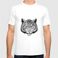 Tiger B&W Mens Fitted Tee White SMALL