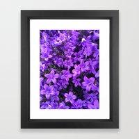 Violetta Blue Framed Art Print