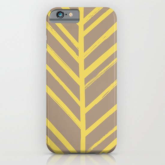 Painted Herringbone - in Marigold iPhone & iPod Case