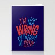 Freedom Of Speech Stationery Cards