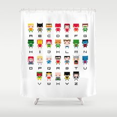 Superhero Alphabet Shower Curtain