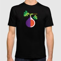 Fruit: Fig Mens Fitted Tee Black SMALL