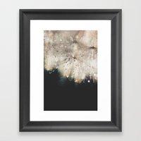 dandelion silver and black Framed Art Print