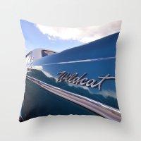 Wildcat - Classic American Blue Car Throw Pillow