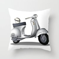 My faith, my voice, vespa my choice ! Throw Pillow