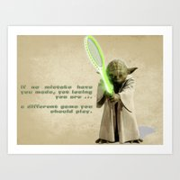 Yoda Squasher  Art Print